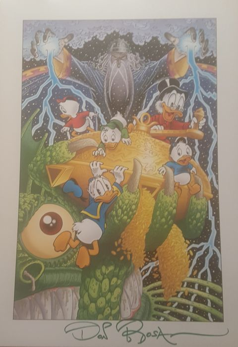 Hand-signed Don Rosa print - The Quest for Kalevala - Altro - (2006)