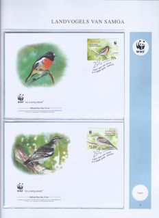 WWF 1983/2011 - collection of FDCs in 7 albums with sleeve