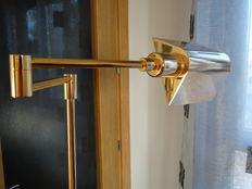 Gyratory lamp in brass, with different heights