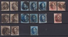 Belgium - selection of 46 stamps from 1849 - Leopold I