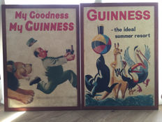 Two Guinness advertising plates