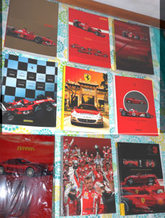 Ferrari - Great collection of 9 official yearbooks
