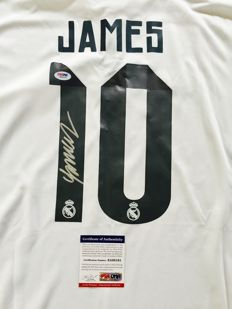 James Rodriguez / Real Madrid - Signed Home Jersey -  with Certificate of Authenticity PSA/DNA