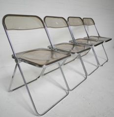 "Giancarlo Piretti for A. Castelli - set of four PLIA ""Folding Chairs"""