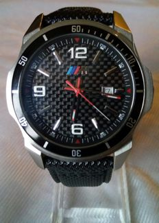 BMW Motorsport - Quartz watch for men with leather band - 2016