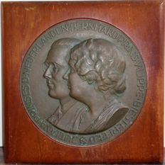Large [wall] plaque wedding 1937 - Juliana & Bernhard