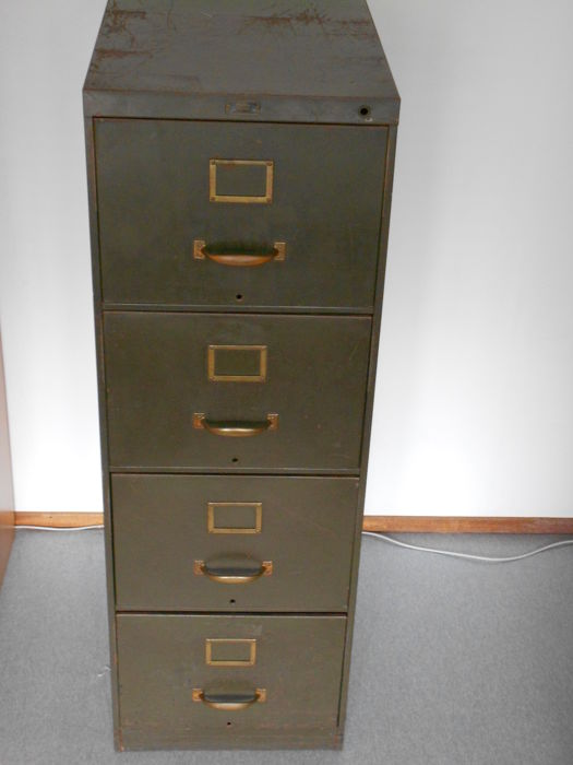 GF Allsteel (General Fireproofing Co.) \u2013 Vintage filing cabinet : brown filing cabinet - Cheerinfomania.Com