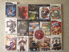 Lot of 7 Gamecube games and 9 Wii games