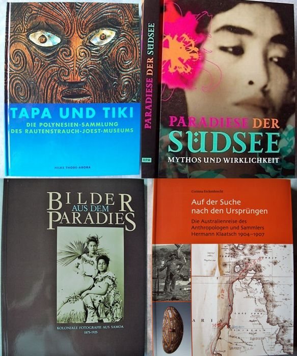 Lot with 5 books about the Oceanian art and culture.