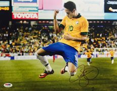 Neymar JR #11 / Brasil - Amazing Signed Photo ( 30x50cm ) - with Certificate of Authenticity PSA/DNA
