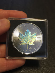 Canada - 5 dollars - 2017 - maple leaf - hologram edition - edition of only 5000 pieces - 1 oz 999 silver / silver coin