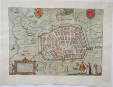 The Netherlands, Haarlem; Georg Braun and Frans Hogenberg - Harlemum - 1564