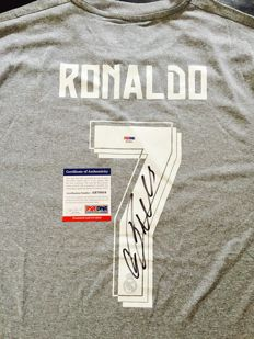 Cristiano Ronaldo #7 / Real Madrid - Signed Home Jersey  -  with Certificate of Authenticity PSA/DNA
