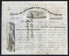 USA - Boston and Providence Rail Road Corporation - 1840
