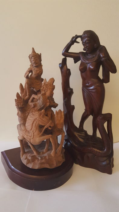 Two wood carvings – Bali – Indonesia