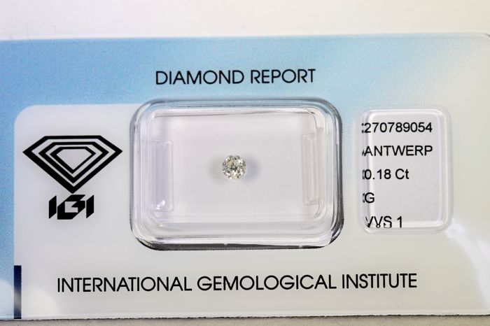 IGI Sealed - 0.18 ct - Brilliant-cut diamond -  G, VS1 - Zonder Reserve Prijs