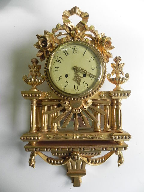 Swedish wall clock is Gustavian style - early 1900s