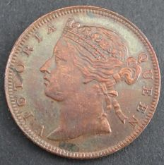 Straits Settlements - ½ Cent 1889 Victoria - brons