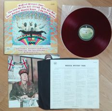 "The Beatles ‎– Magical Mystery Tour. 1969 Apple- RED WAX, Gatefold ""book"" cover+24 page booklet+lirycs sheet+black inner sleeve."