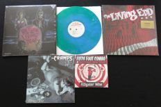 OST - Night Of The Living Dead (ltd!) / The Cramps / The Living End (ltd.!) / Fifty Foot Combo: Great Rockabilly / Psychobilly-lot on 2 limited LP's, 1x 10inch & 1x limited 7inch single