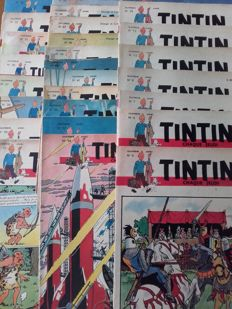 Journal Tintin - N° 4 + 5 + 7 + 9 + 12 + 13 + 19 + 21 + 22 + 25 + 26 + 27 + 30 + 31 + 32 + 34 + 36 + 37 + 38 + 39 + 41 + 44 + 45 + 46 + 47 + 48 + 50 - 27x B - EO (1949)