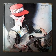 Beautiful metal advertising sign Collonil shoe polisher