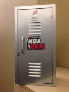 Exclusive NBA 2k merchandise locker and mini basketball sets
