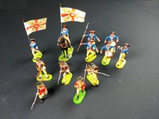 Elastolin, Western Germany - 1/26 scale - Plastic American Regiment Indepence War, 1960/70s