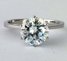 1.00ct - D color - SI1 clarity - Diamond Ring - 14K White Gold  - size 6 (USA) - IGL Certificate - Untreated.