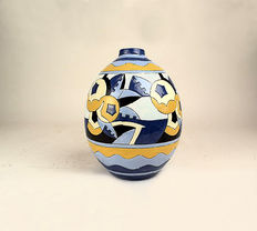 Georges Tecqmenne for Charles Catteau - Keramis - Polychrome earthenware Art Deco vase number: D1414