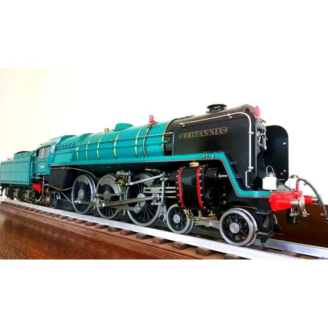 "Hand built 9cm/3.5 inch Track - British Railways BR ""Britannia"" Steam locomotive Made of brass, copper and metal + Drivers cab"