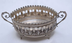 Centerpiece For Turkish Delight - 900 Silver - Art Nouveau - Turkey - ca. 1930's