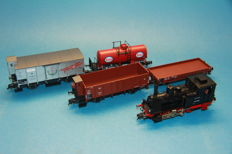 Fleischmann H0 - steam locomotive Series BR 89/T3 of the DB with 4 wagons