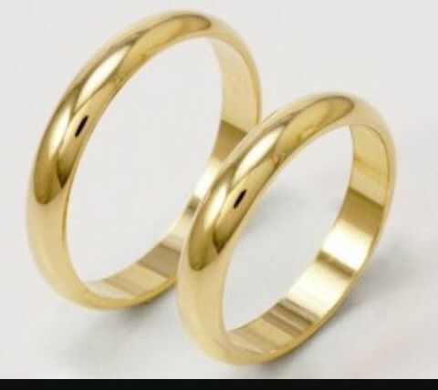 Wedding rings in 18 kt gold - sized to desired fit