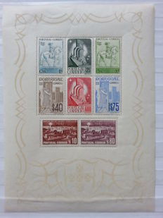 Portugal, 1940 -- 3 cent Restoration and 1 cent Postal Stamp -- Mundafil block 2–3, 591–606