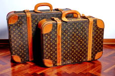 Louis Vuitton – Suitcase set – Set of two original suitcases – Stratos 60 + Stratos 70