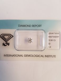 0.50 ct brilliant-cut diamond D I.F