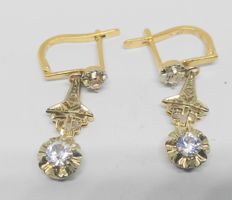 Yellow gold earrings - Late 19th century / early 20th century