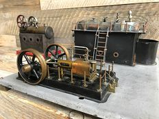 An., probably Germany - Lot with 2 steam machines, around 1900/1930