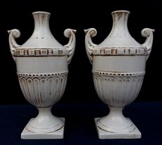 Pair of vases with handles