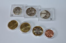 Europe - 1½, 5, 8 and 10 Euro coins 2005/2012 (7 different coins)
