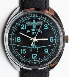 Junkers Ju 87 - Luftwaffe - military marriage - wristwatch  -(Raketa) -1965