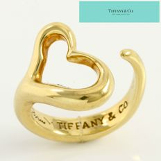"Tiffany & Co. - ""Open Heart"", design by Elsa Peretti 18K Gold Ring Size 5.75"