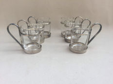 Christofle - 6 silver plated glasses
