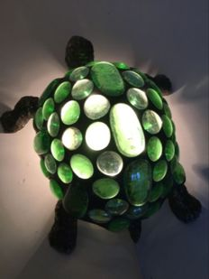 Beautiful stained glass turtle bedside lamp