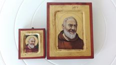 Padre Pio of Pietralcina – two hand-made icons