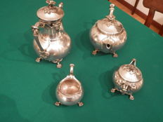 Antique silver plated tea set by Christofle
