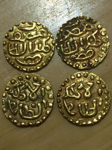 Indonesia - Lot of 4 Samudera Pasai, ca. 13th century - gold