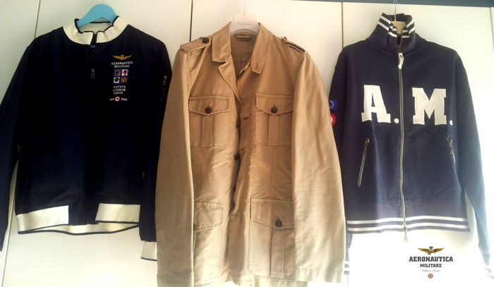 Aeronautica Militare - Two jackets and zipped sweatshirt New