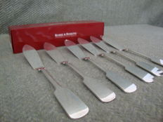 6 Fish Knives - Robbe & Berking -  Alt-Spaten -  Massive Silver Plated ( 150 gr )